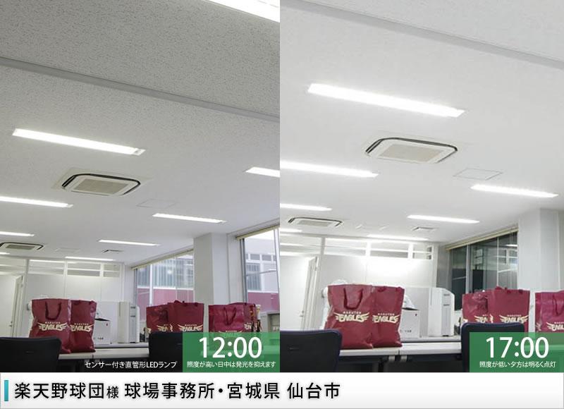 オフィス照明/楽天野球団 球場事務所 様